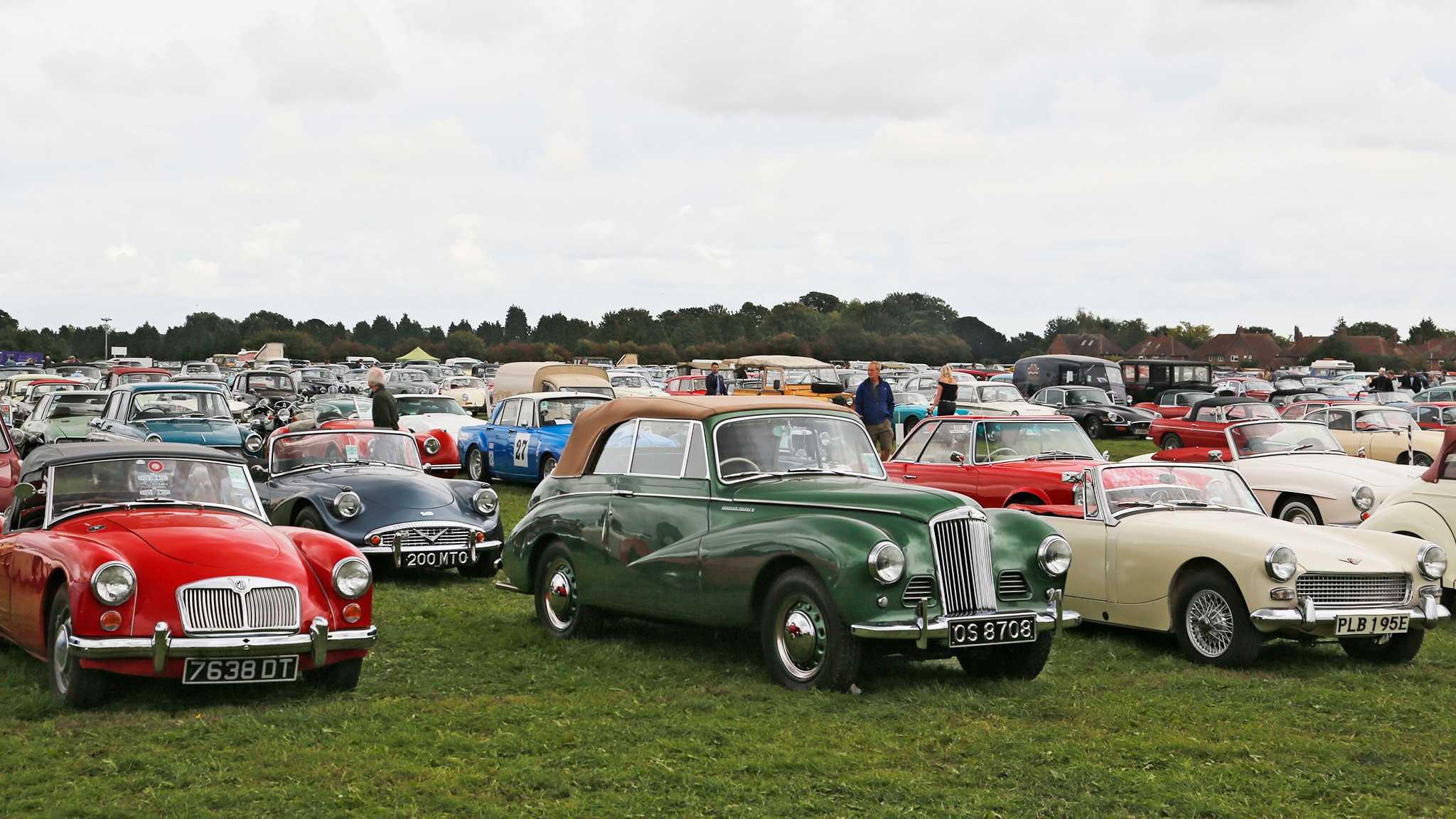 2018 Goodwood Revival Parking Lot Spread