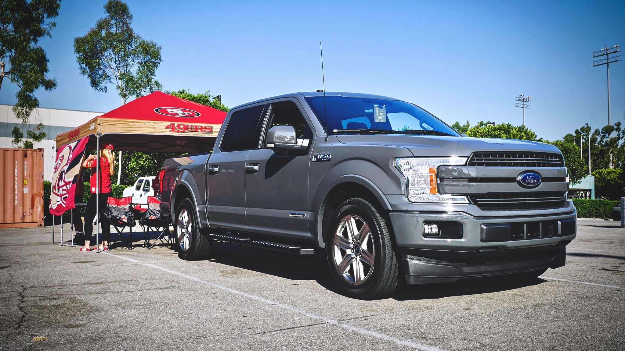 Tailgating A Football Game With A 2018 Ford F 150 Lariat Supercrew