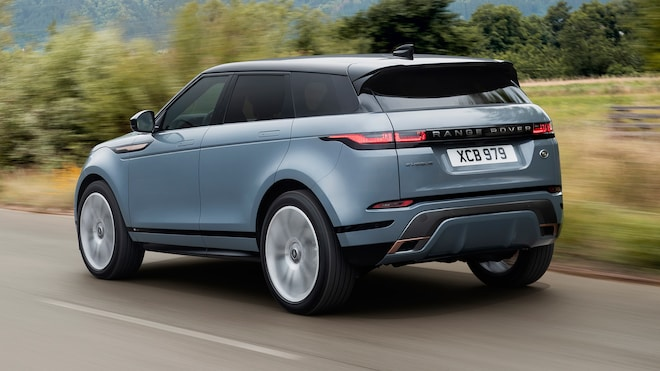 2020 Range Rover Evoque Rear View In Motion