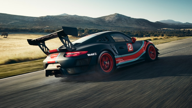 Porsche 911 GT2 RS Clubsport Rear Side Motion View