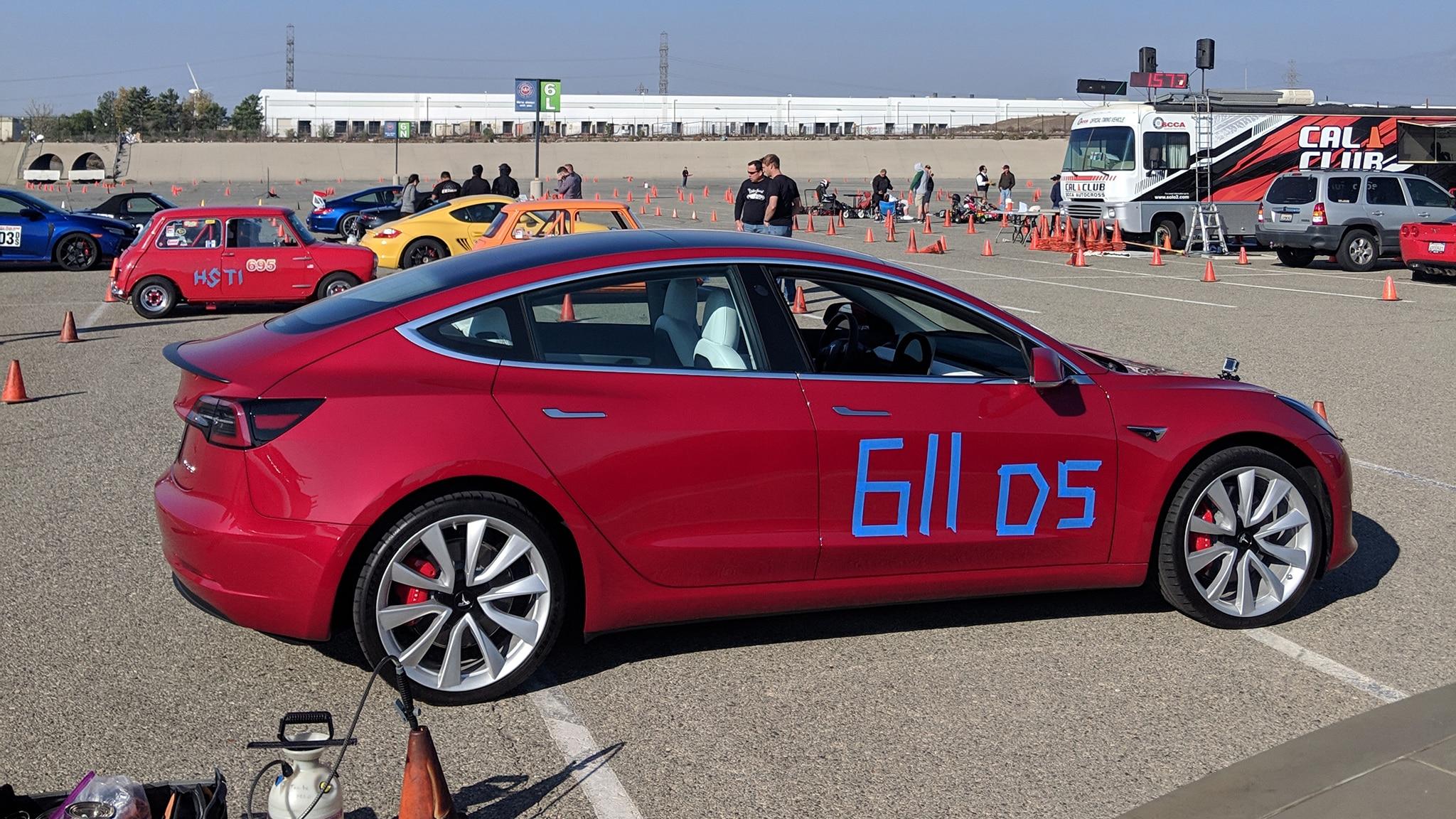 Tesla Model 3 Track Mode Autocross 11