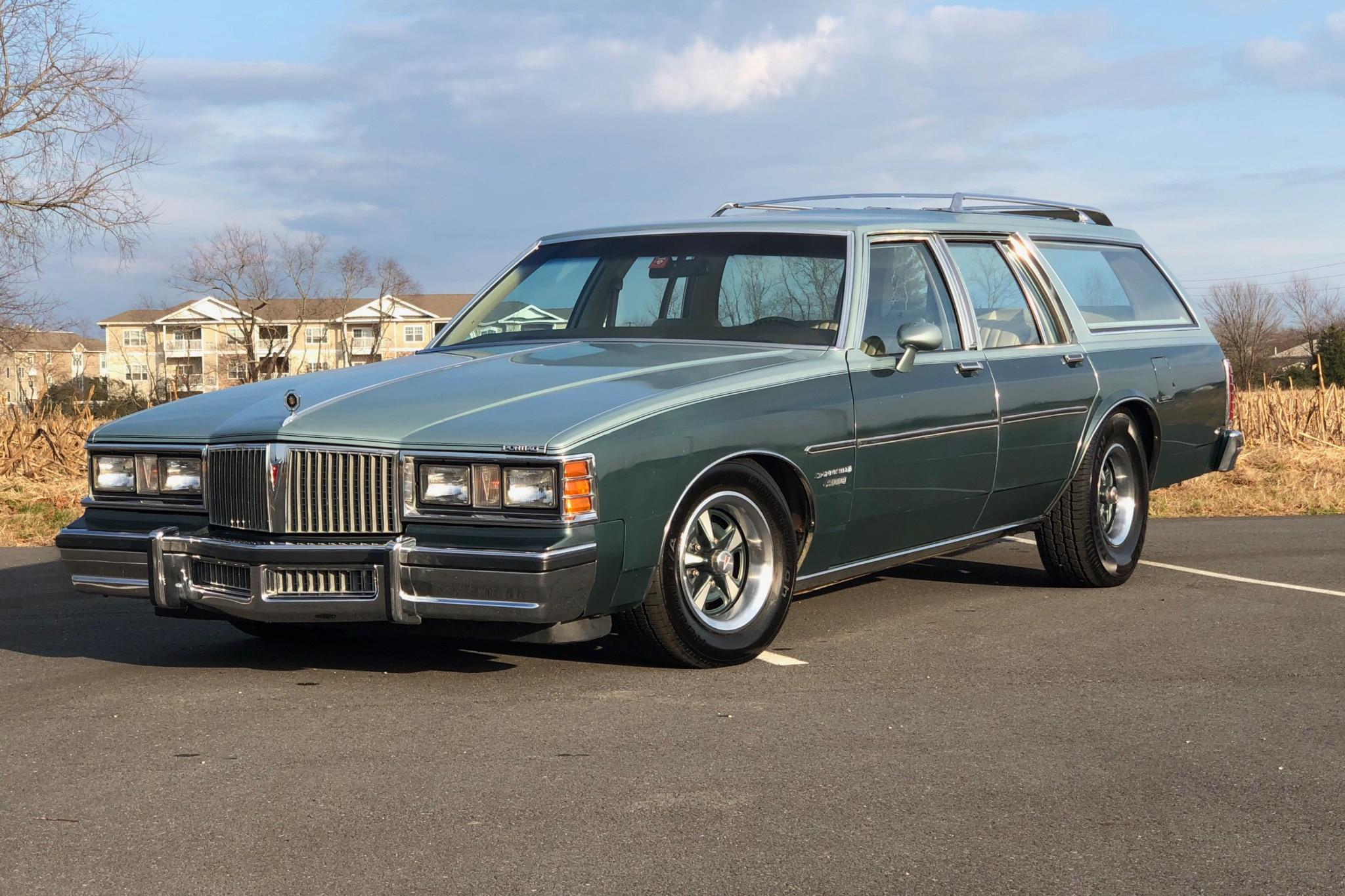 1981 Pontiac Bonneville Safari Just Listed Front Three Quarters