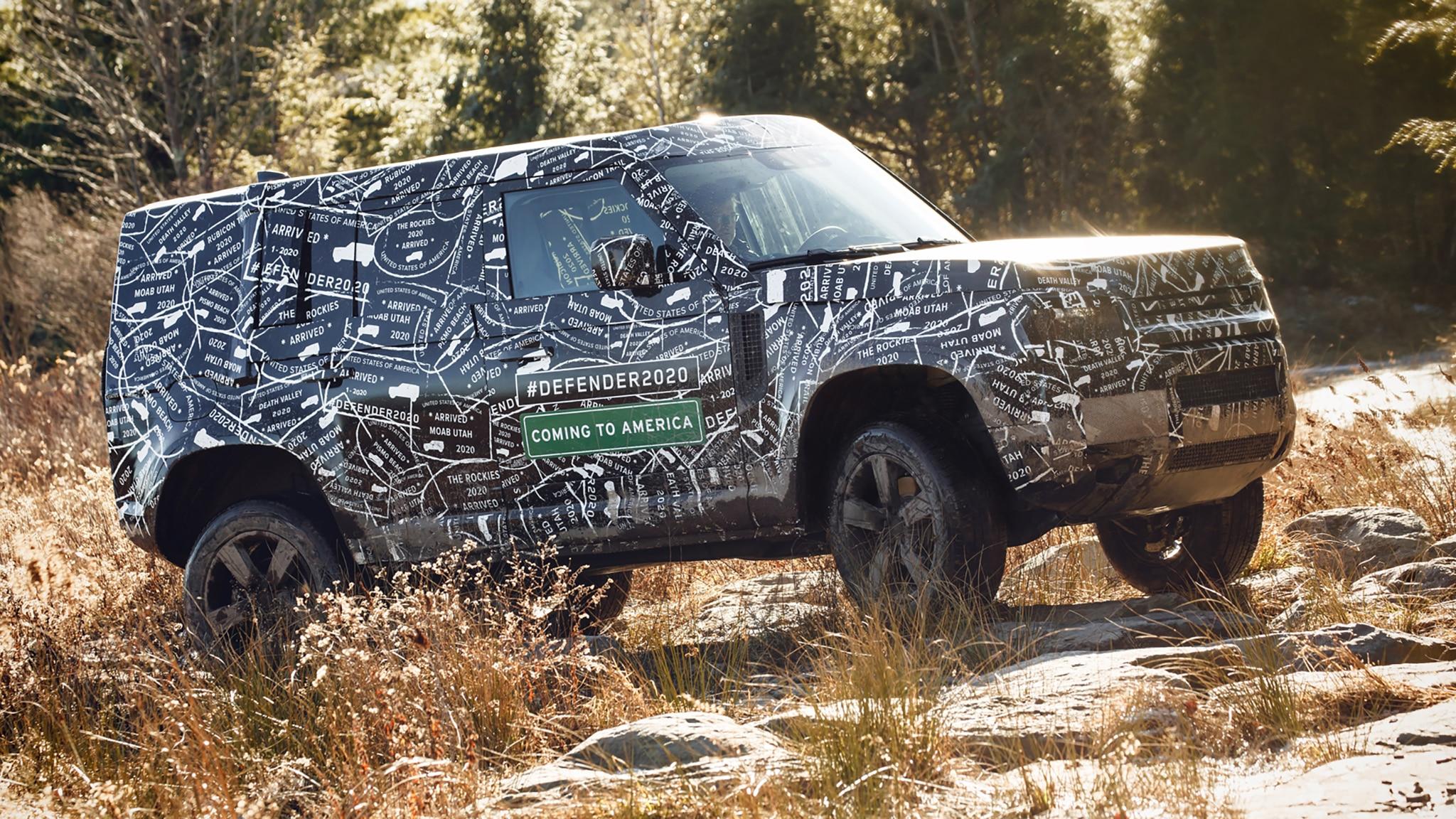 2020 Land Rover Defender Side Three Quarter