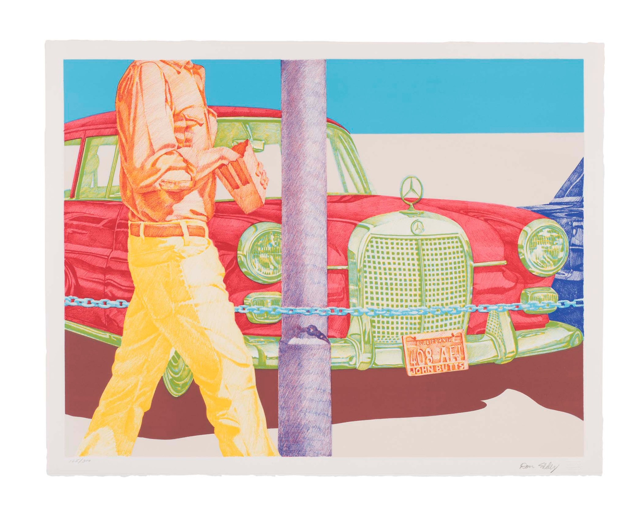 Don Eddy Red Mercedes 1972 Color Lithograph Toledo Museum Of Art Courtesy Of Christopher Dallas Ridgeway