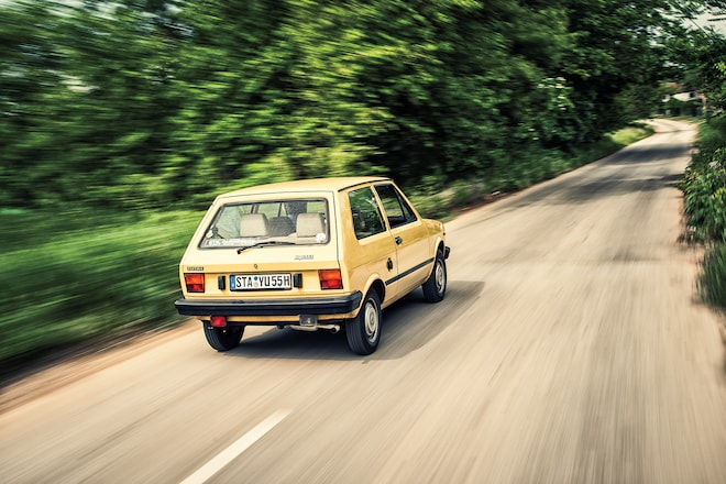 Sputtering from Bavaria to Serbia in a 1984 Yugo