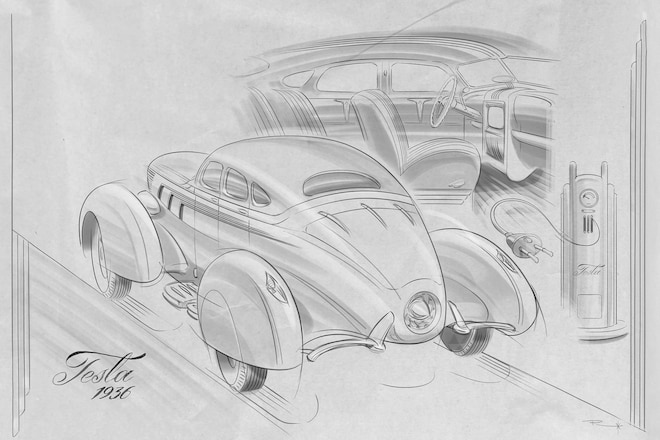 What If Today's Cars Were Designed Decades Ago? | Automobile Magazine