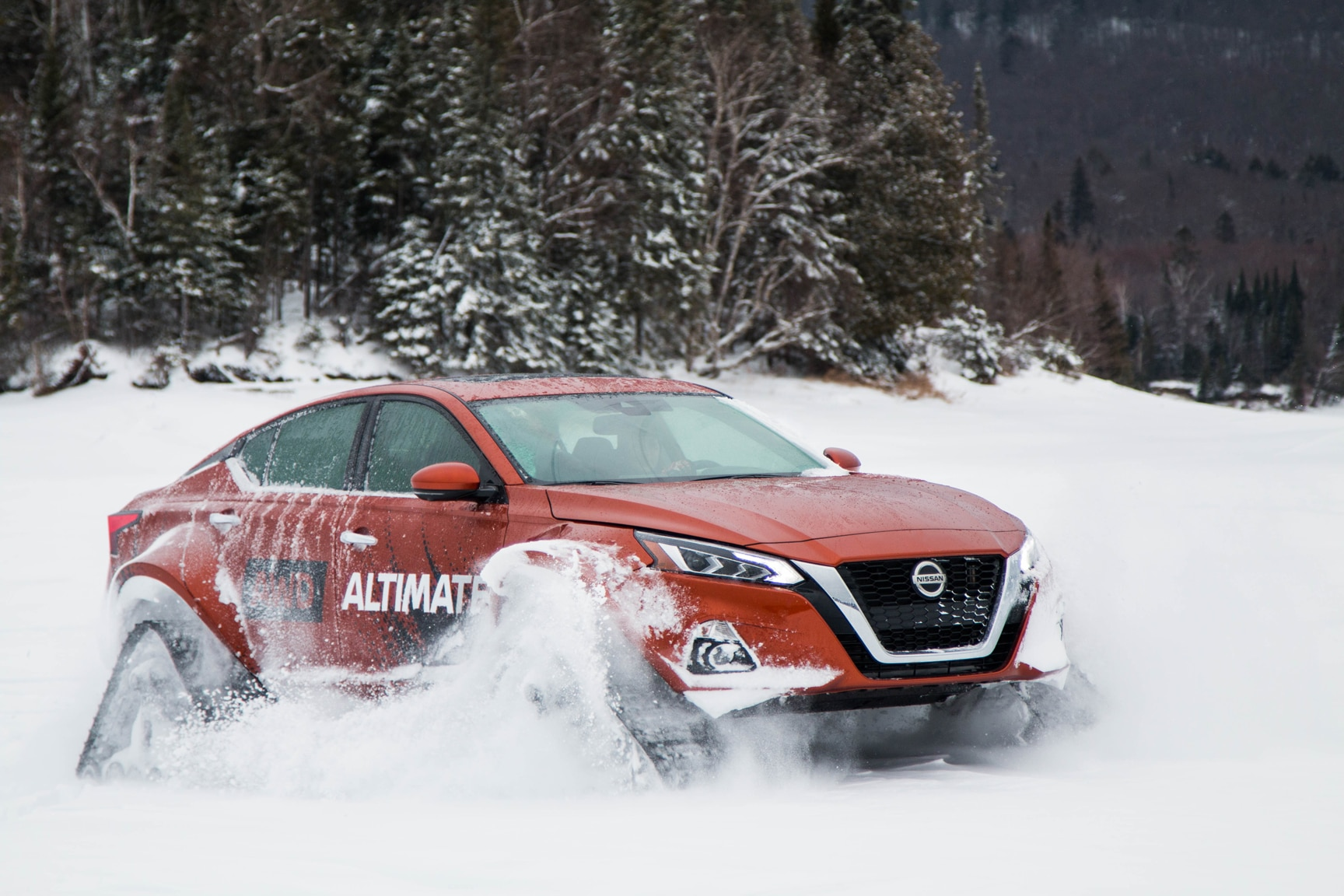 Nissan Put Snow Tracks on Another Thing: The Altima