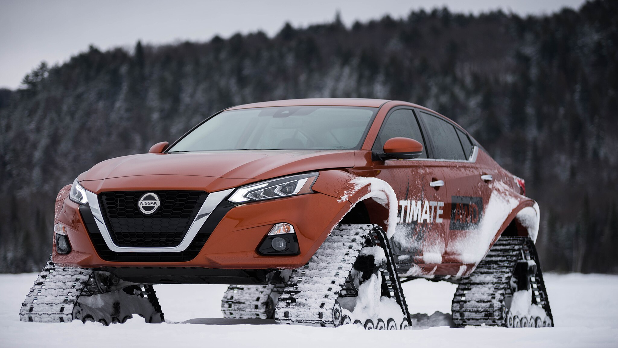 Nissan turned the Altima into snowmobile