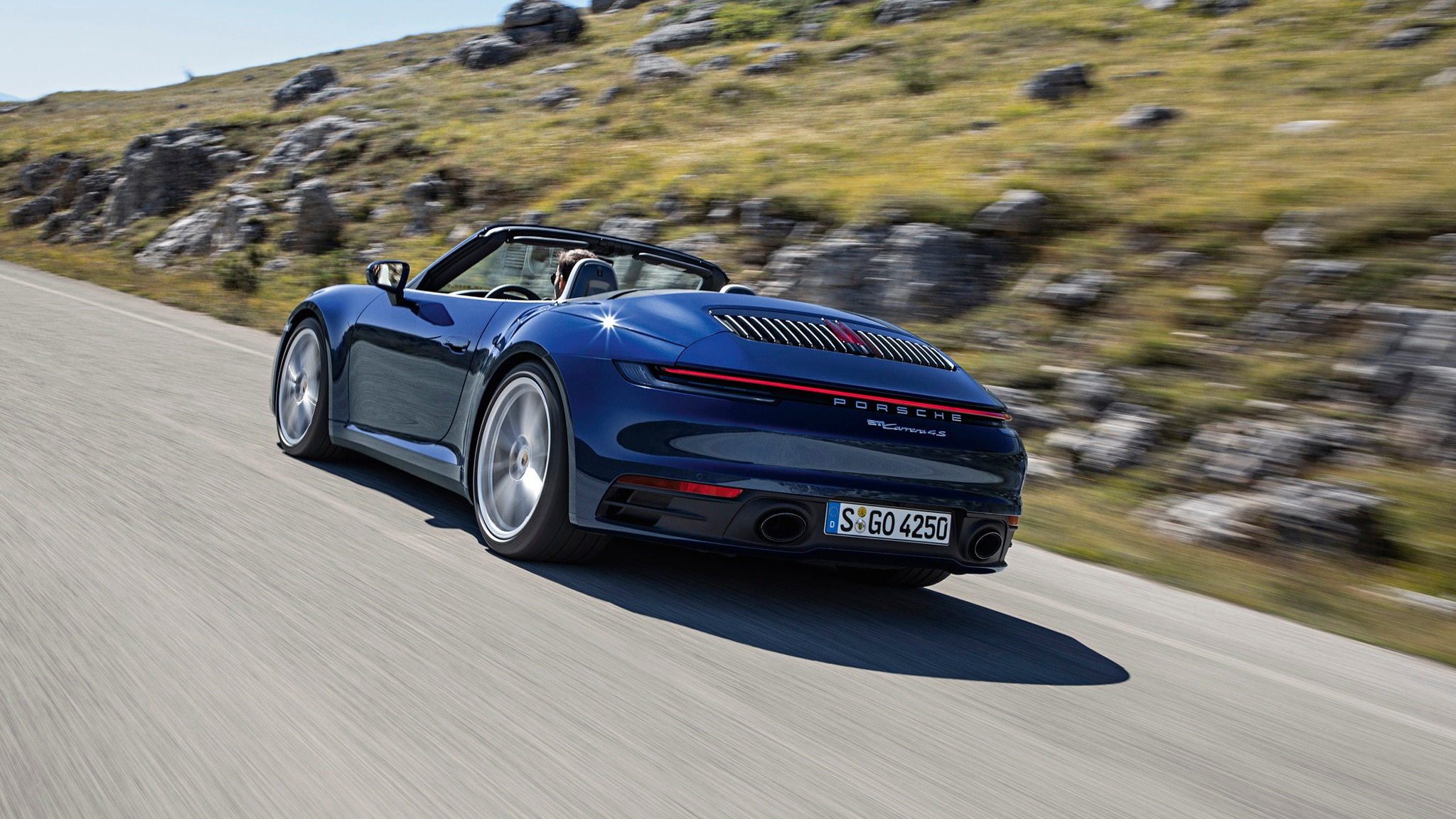 2020 Porsche 911 Carrera S And 4S Cabriolet Rear