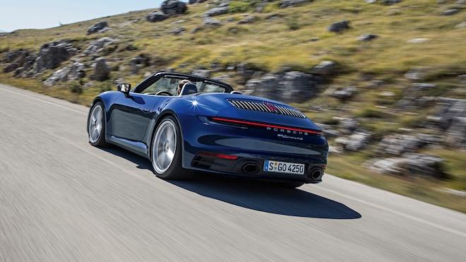 2020 Porsche 911 Carrera S And 4S Cabriolet Rear