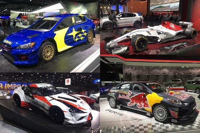Race Cars at the 2019 Detroit Auto Show