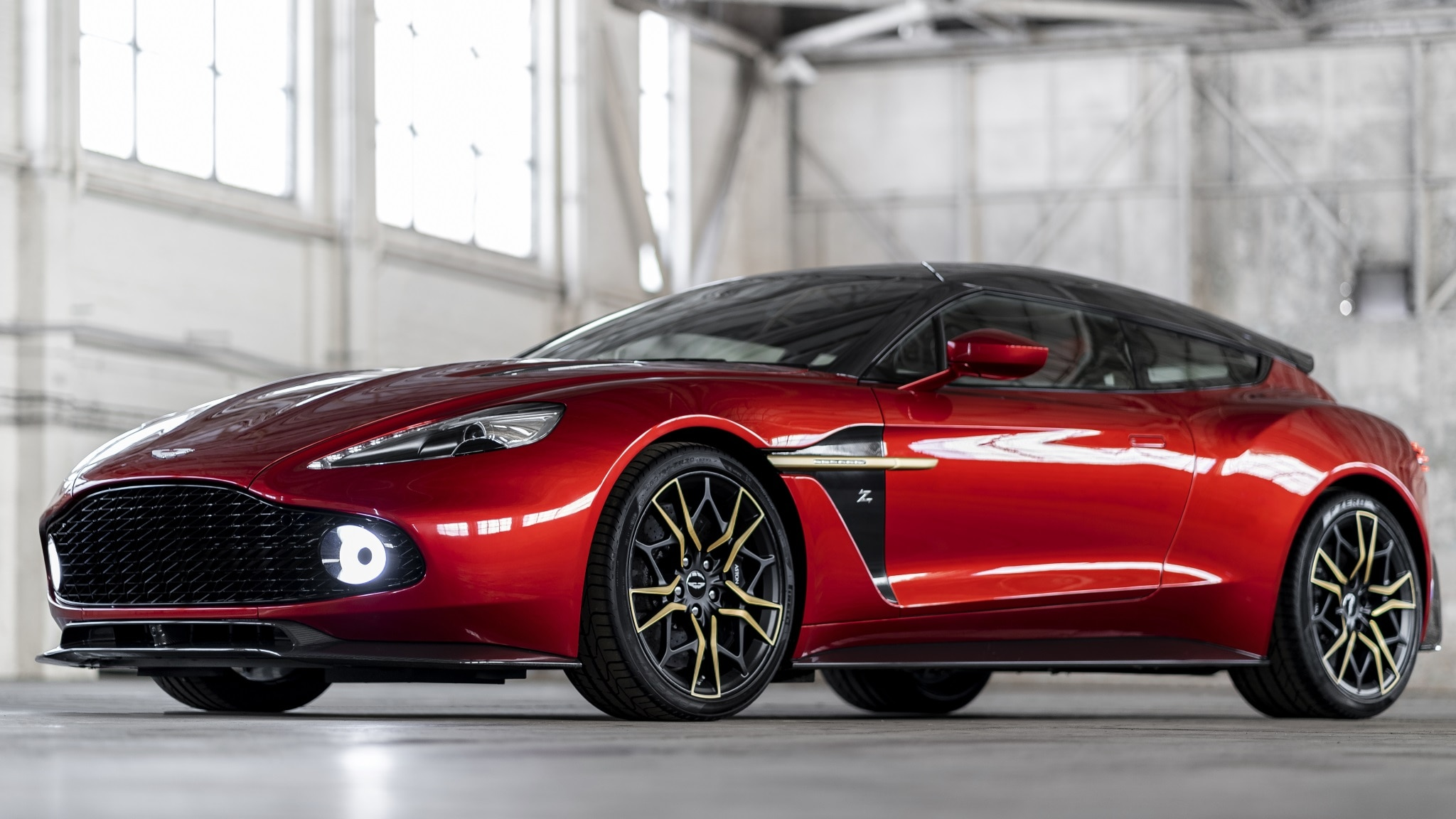 2017 Aston Martin Vanquish Zagato Shooting Brake Front Three Quarter