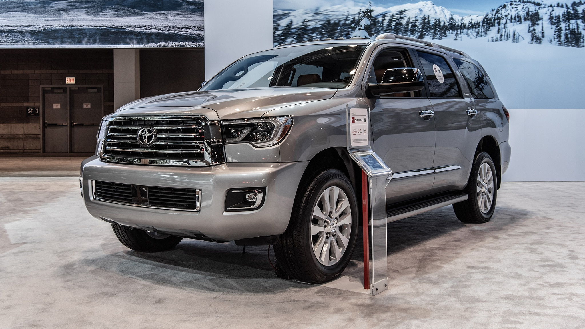 2019 toyota sequoia trd sport review  dated night