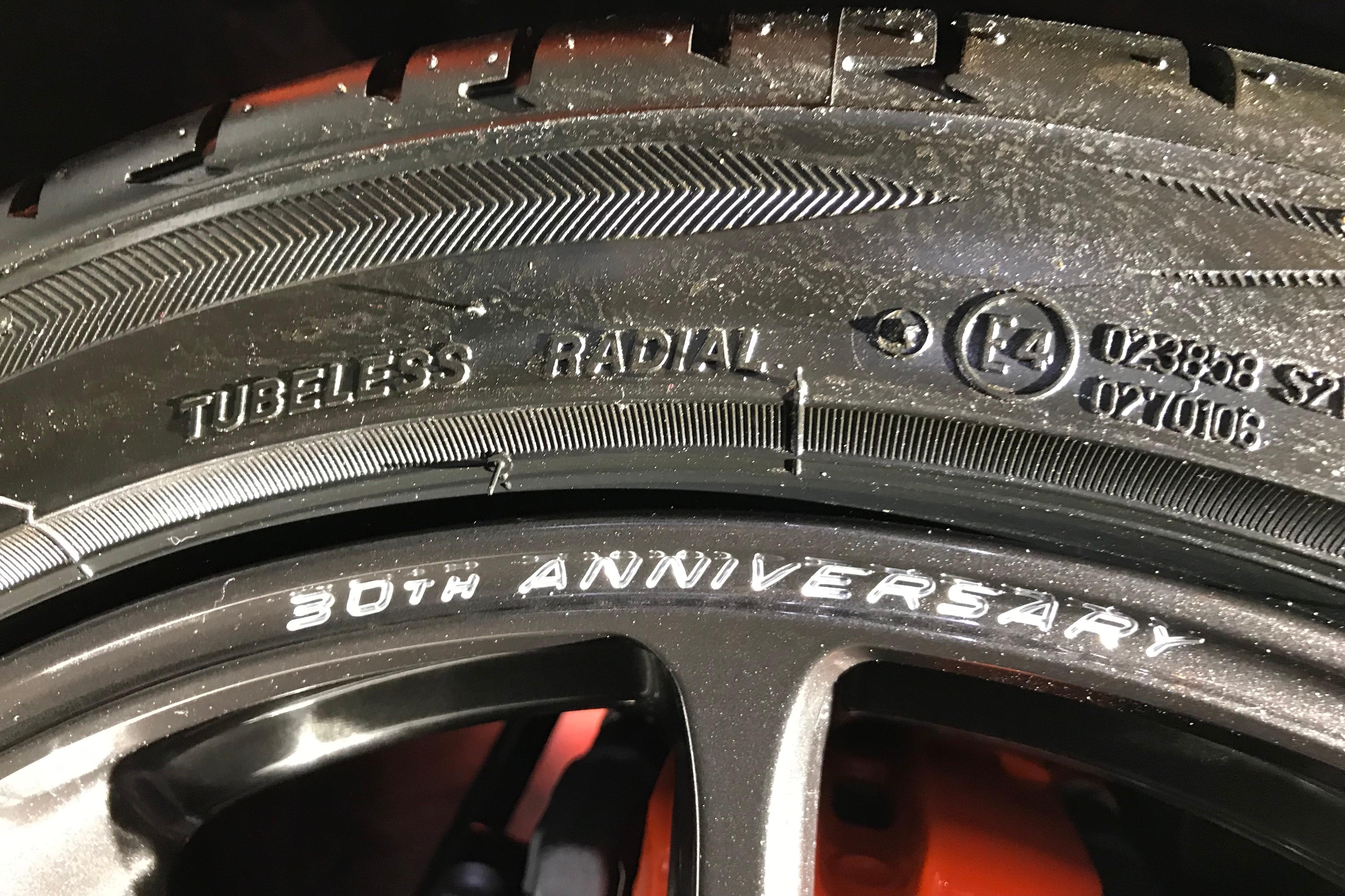 2020 Mazda Miata 30th Anniversary Edition Wheel with logo