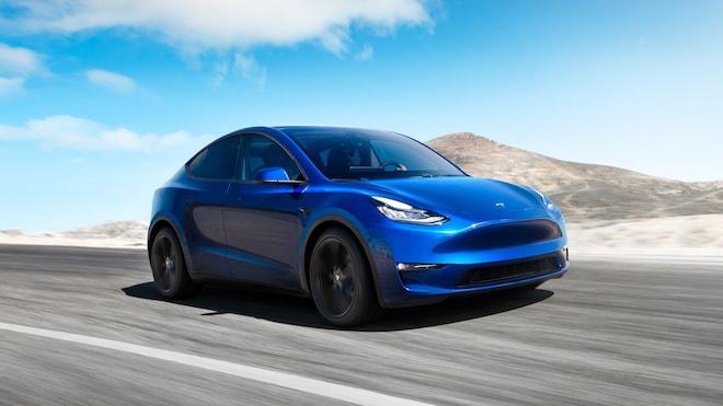 Tesla Model Y Front Three Quarters