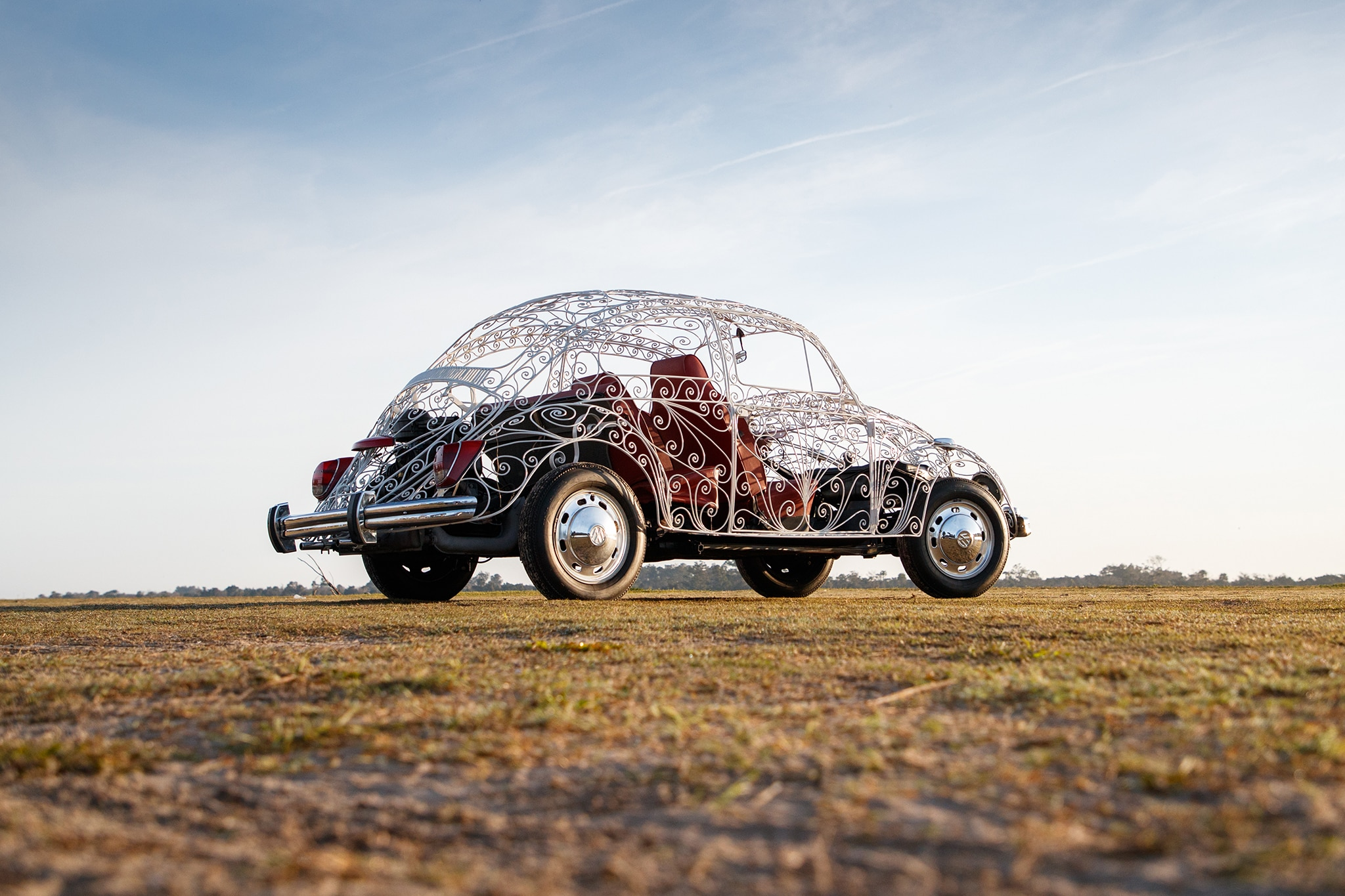 Maximum Airflow: Driving a Wrought-Iron VW Wedding Beetle