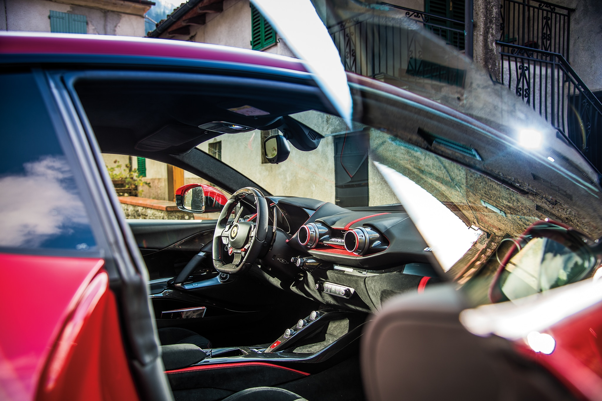 Striking 12s: Ferrari 812 Superfast vs. Lamborghini Aventador SVJ | Automobile Magazine