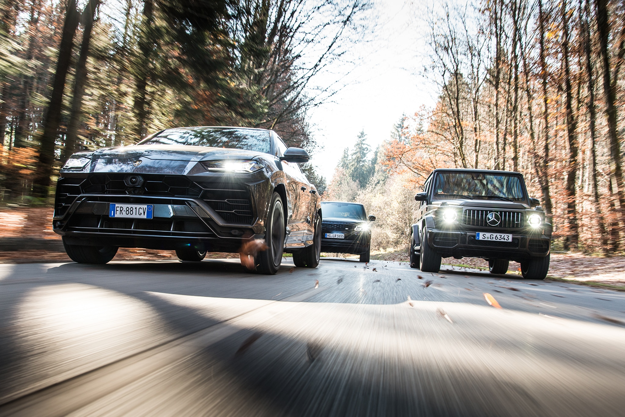 2019 Lamborghini Urus Vs 2019 Mercedes AMG G63 Vs 2019 Range Rover Vogue 89