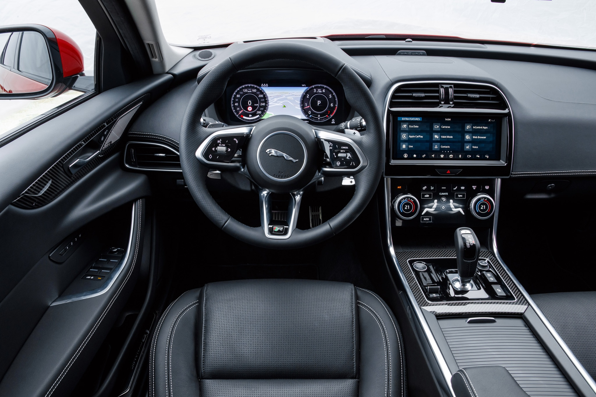 2020 jaguar xe first drive: down two cylinders, up one