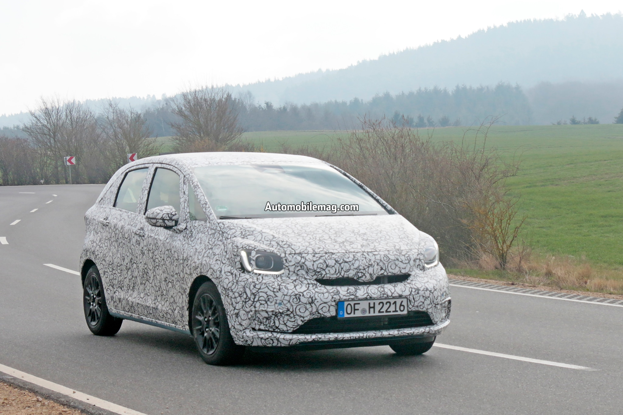 Honda Fit Spied In Action Photos 08