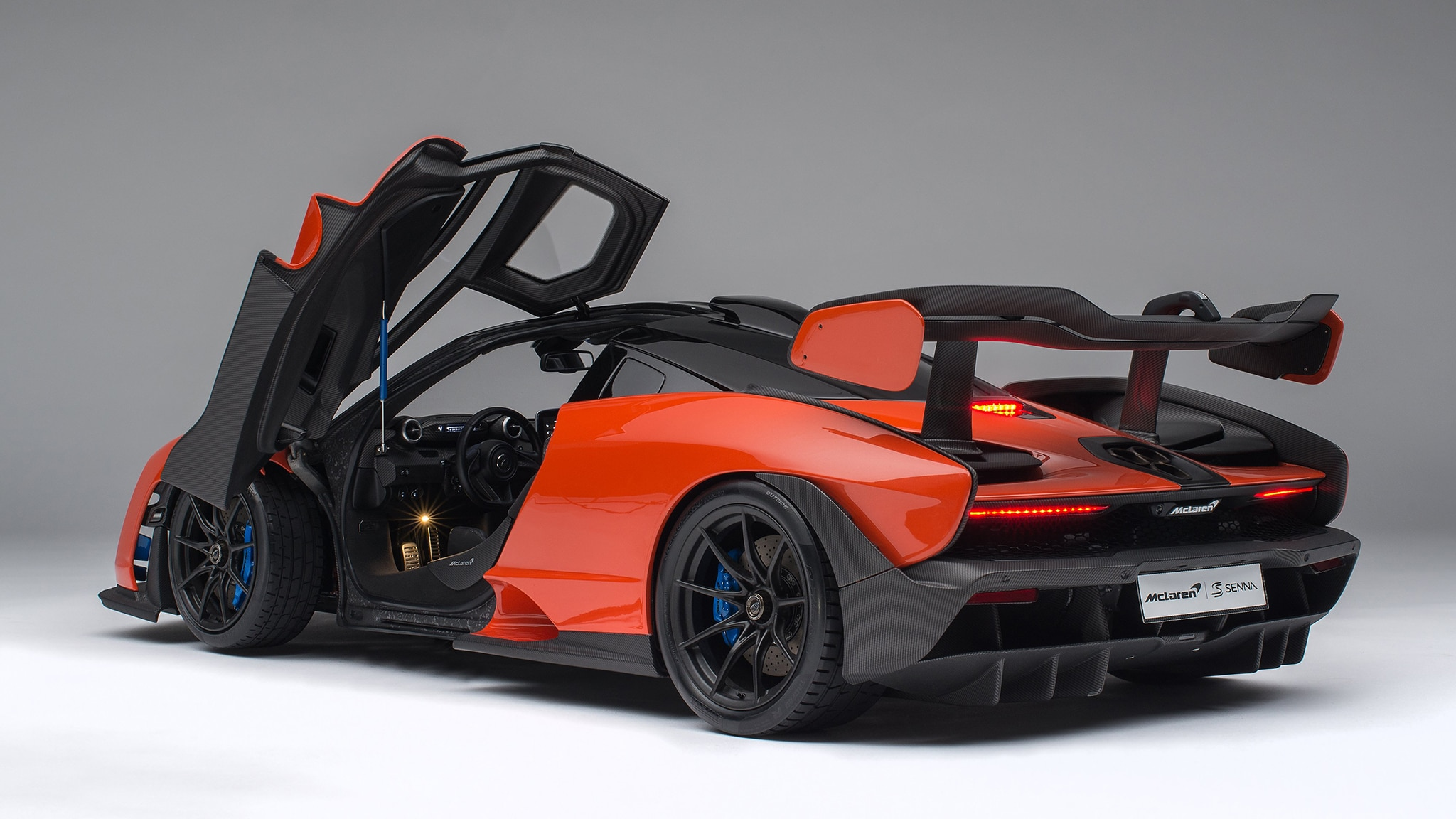 miniature mclaren senna sells for  13k  has remote lights and doors