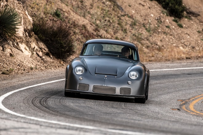 1960 Porsche 356 RSR Emory Front In Motion 2