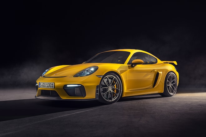 2020 Porsche 718 Cayman GT4 Front Three Quarters