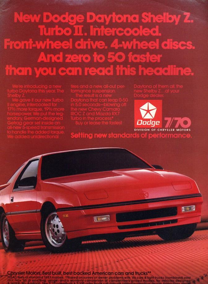 The Dodge Daytona Shelby Z Is a Rad, Oddball 1980s Classic