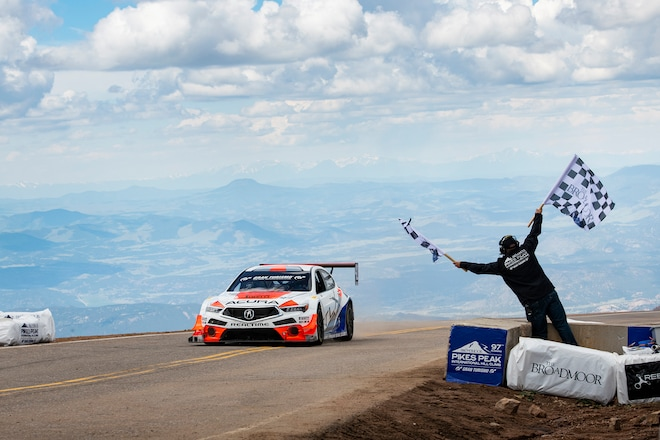 Acura TLX GT RealTime Racing Pikes Peak Finish
