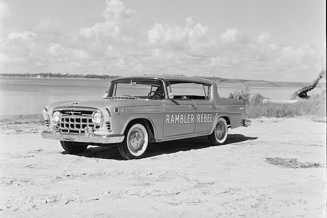 001 Rewind 1957 Amc Rambler Rebel Front Three Quarter Daytona