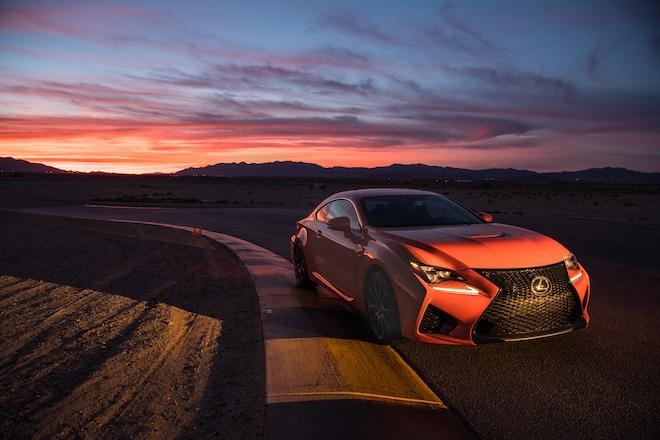 2016 Lexus RC F Front Three Quarter Dark