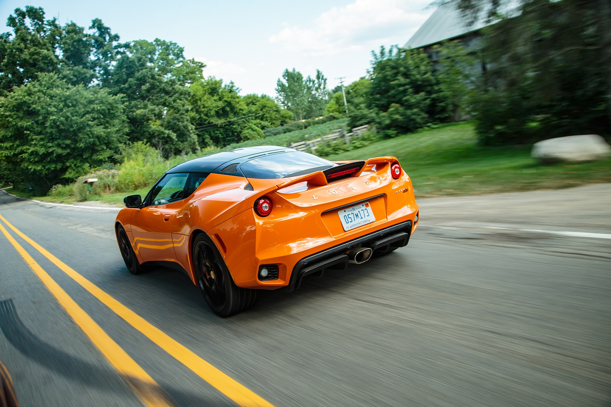 2017 Lotus Evora 400 Rear Three Quarter In Motion 05