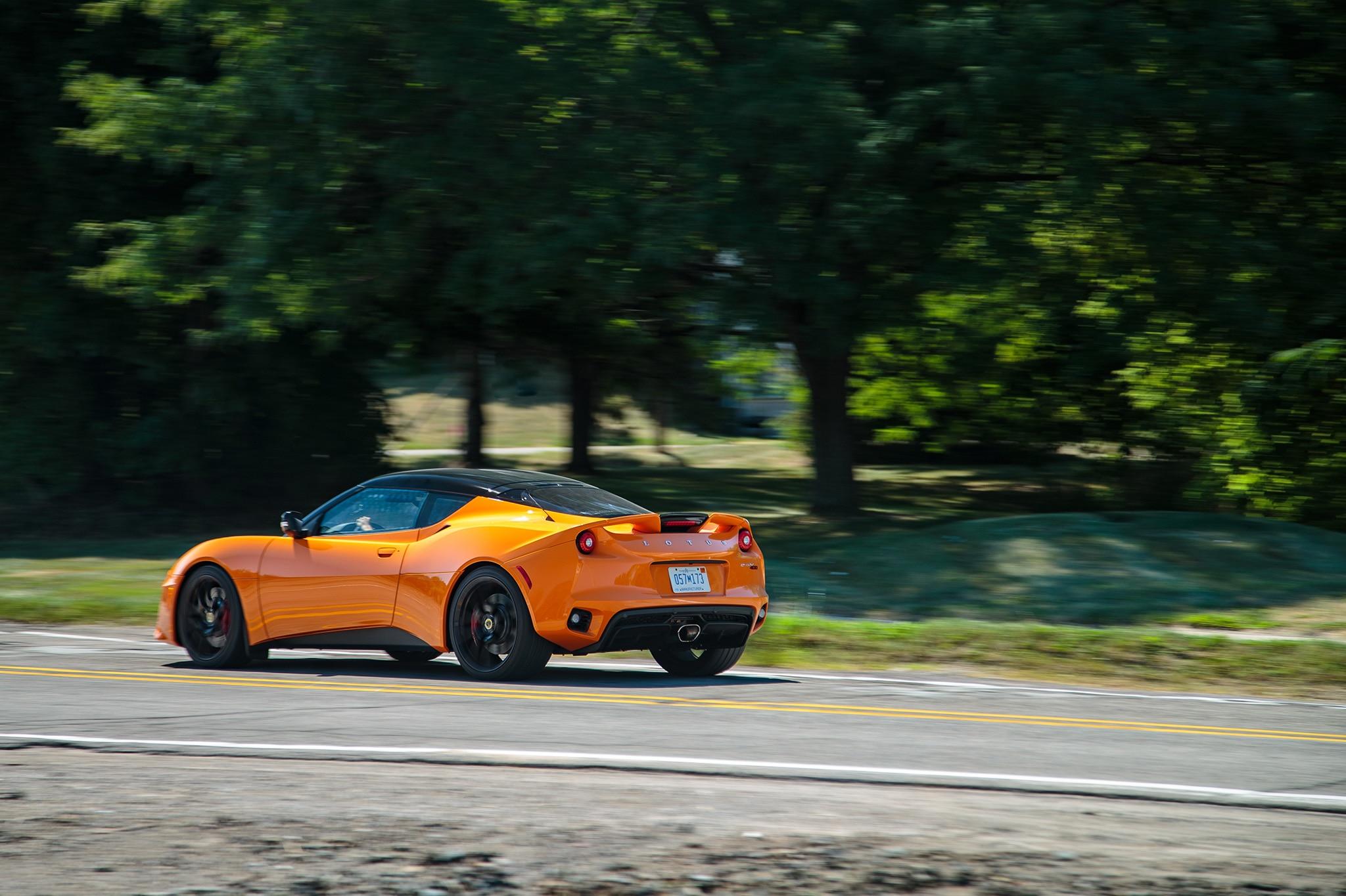 2017 Lotus Evora 400 Rear Three Quarter In Motion 10
