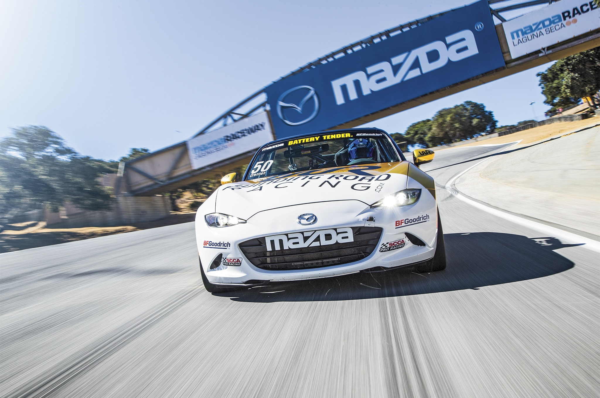 Mazda MX 5 Global Cup Car Front End In Motion