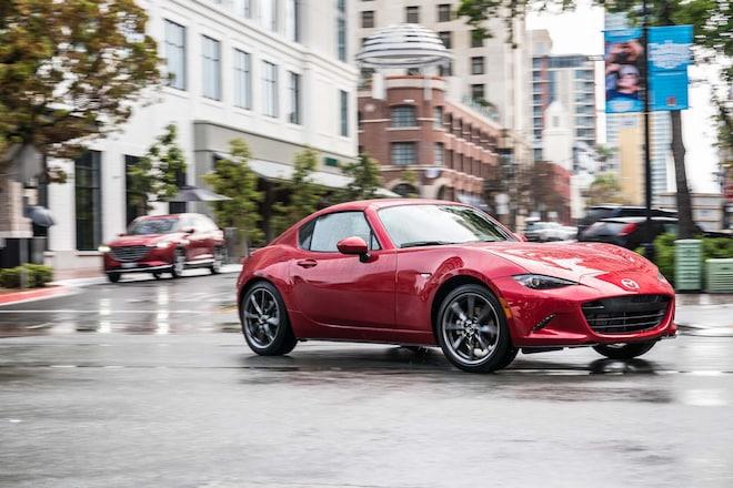 2017 Mazda MX 5 Miata RF Front Three Quarter Turn