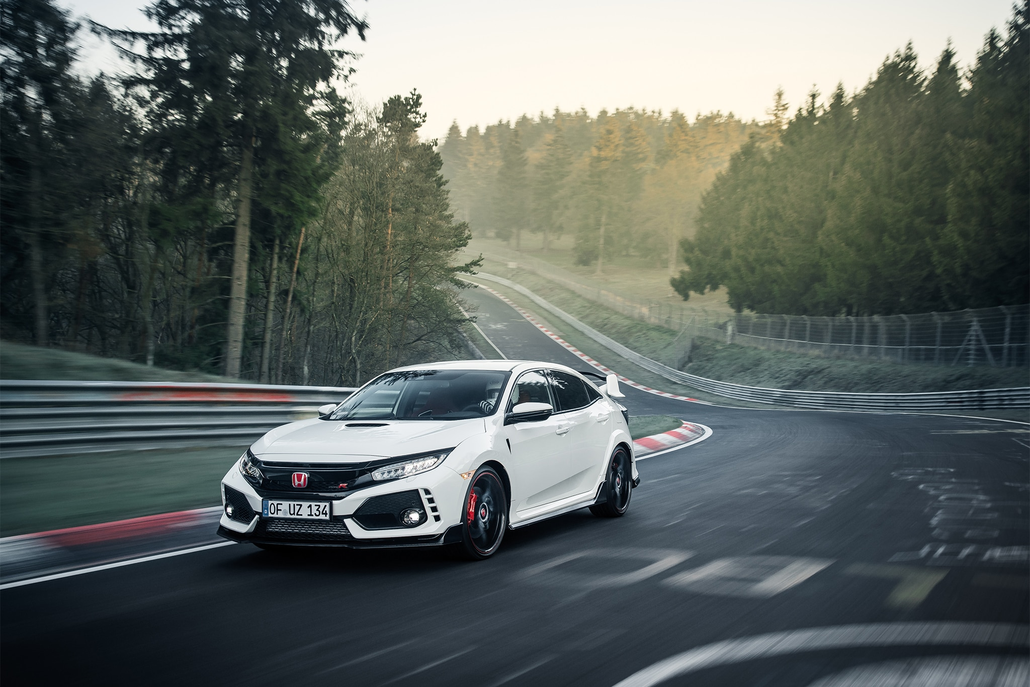 2017 Honda Civic Type R Front Three Quarter In Motion 02