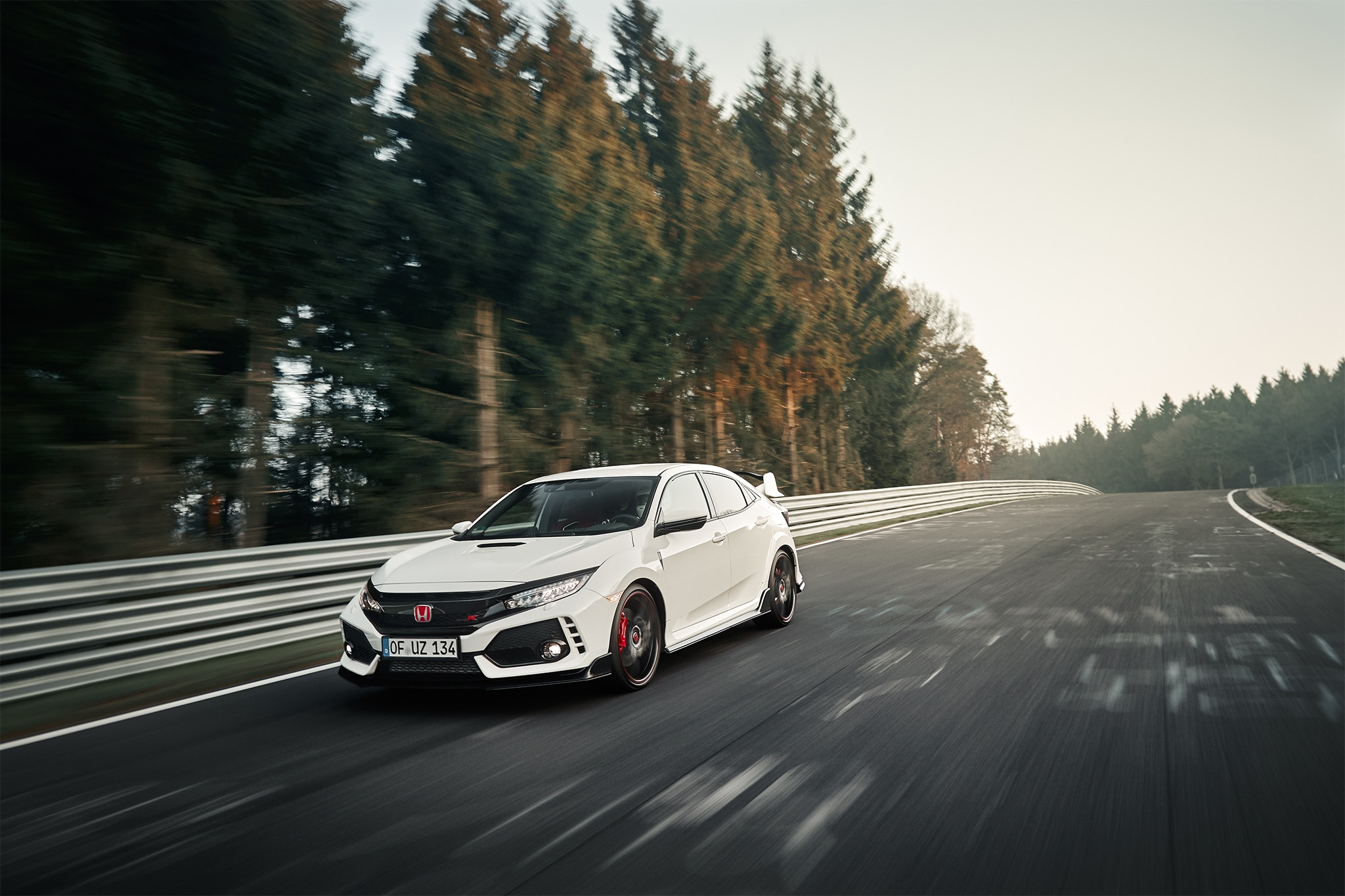 2017 Honda Civic Type R Front Three Quarter In Motion 03