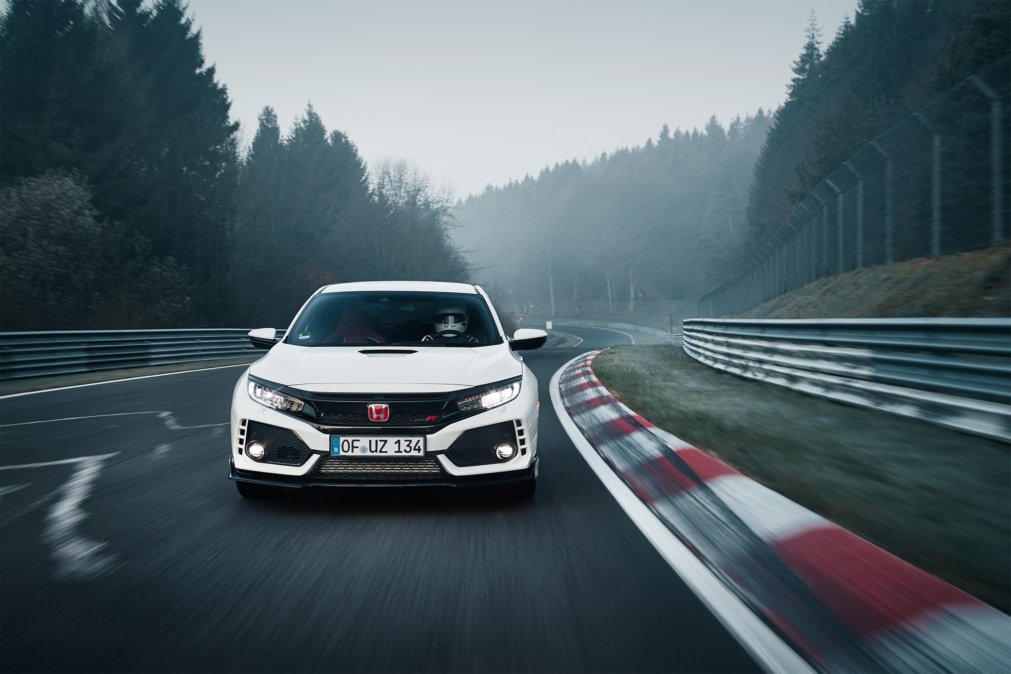 2017 Honda Civic Type R Front View In Motion 04