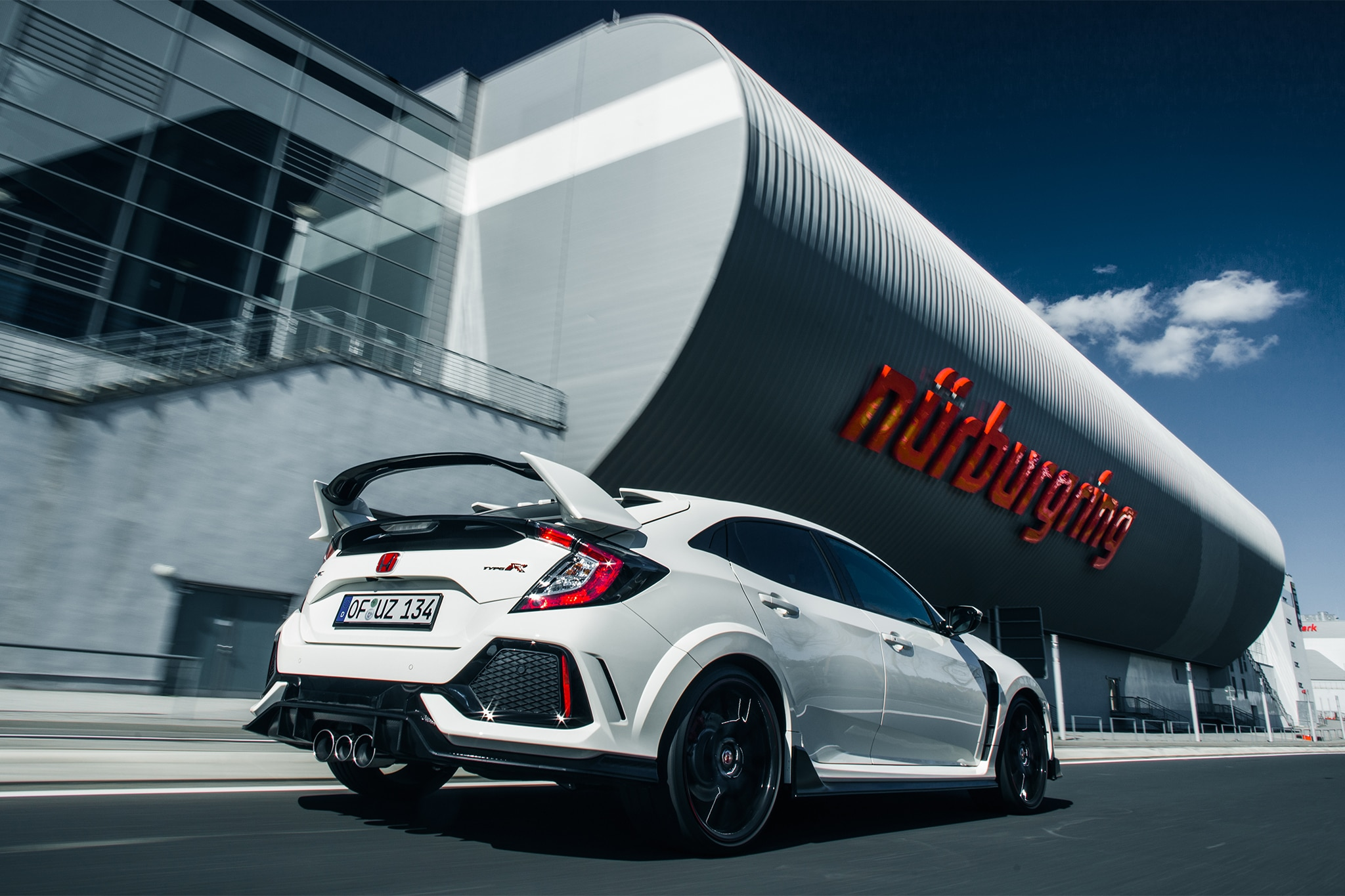 2017 Honda Civic Type R Rear Three Quarter In Motion