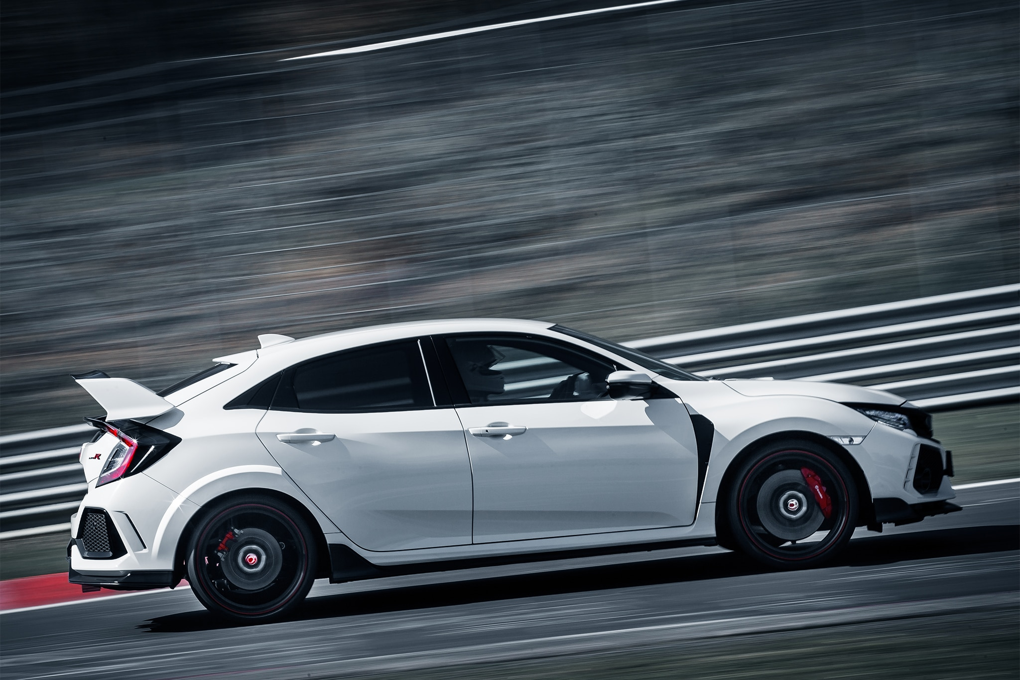 2017 Honda Civic Type R Side Profile In Motion