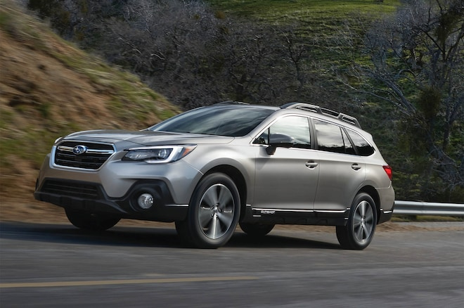 2018 Subaru Outback Front Three Quarter In Motion 1