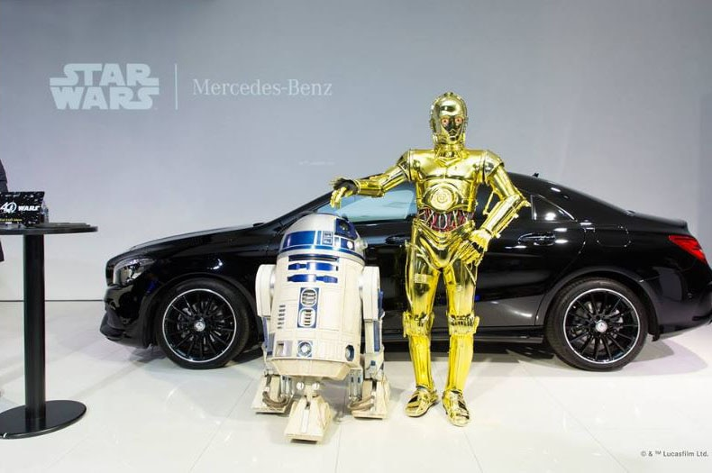 Mercedes Benz CLA 180 Star Wars Edition With Characters