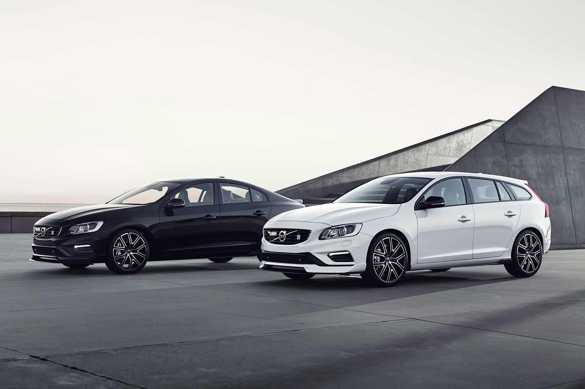 2018 Volvo S60 And V60 Polestar Group Shot