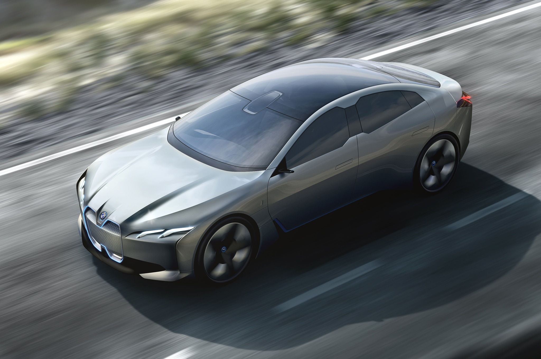 BMW I Vision Dynamics Concept Motion View From Above
