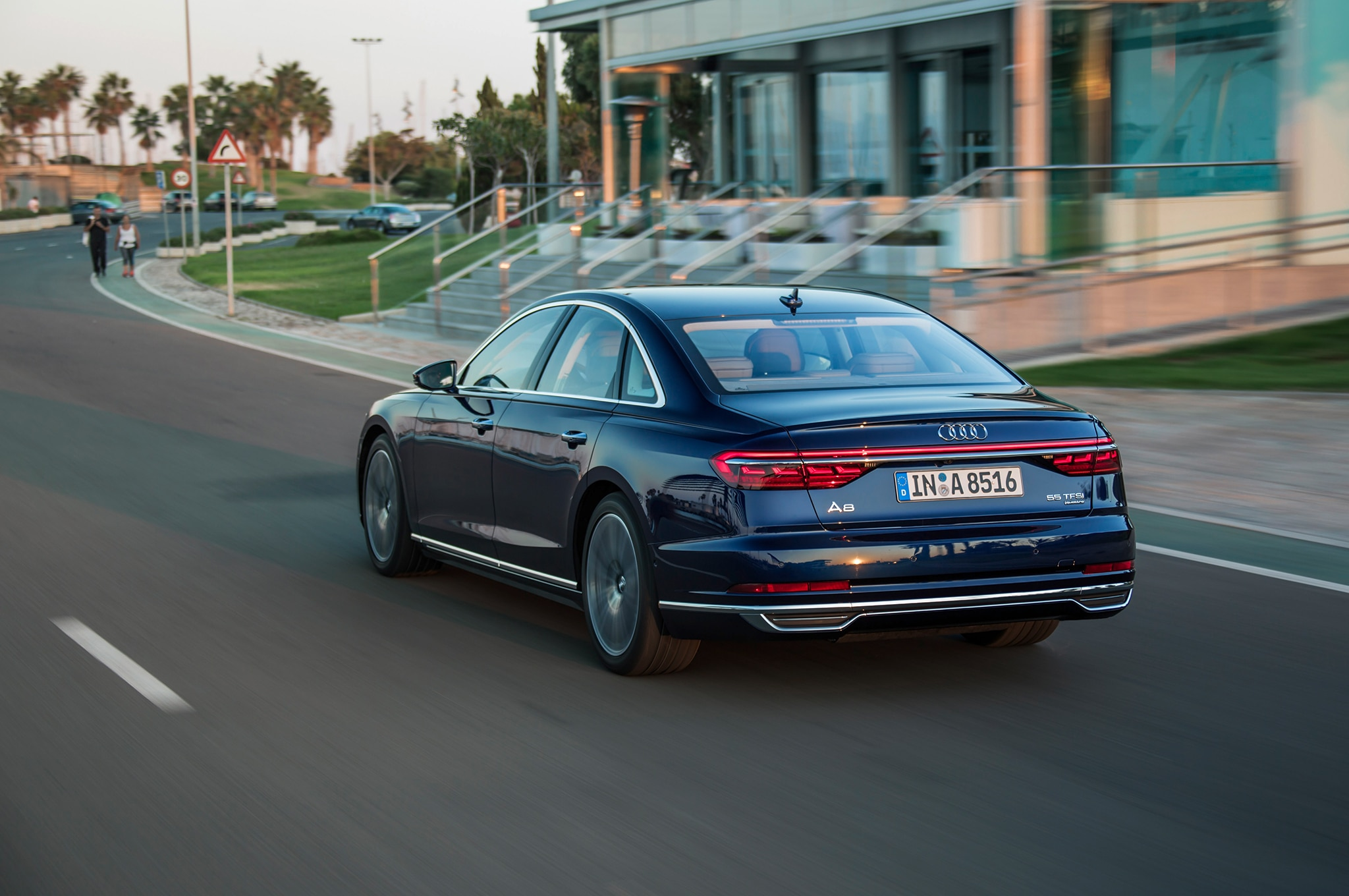 2019 Audi A8 Rear Three Quarter In Motion 13