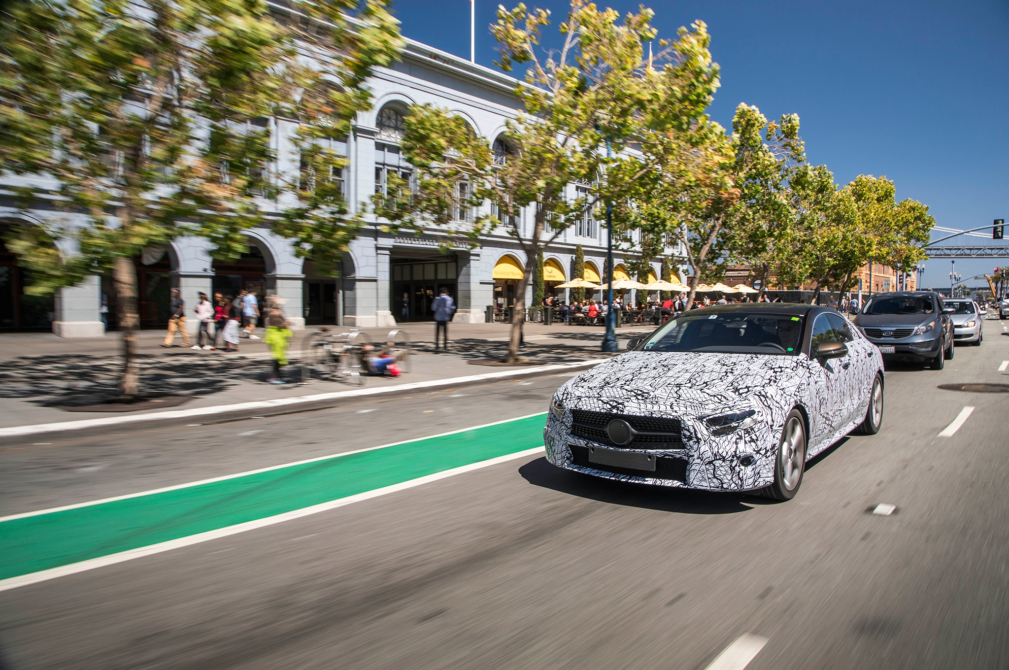 2019 Mercedes Benz CLS Prototype Front Three Quarter In Motion 20