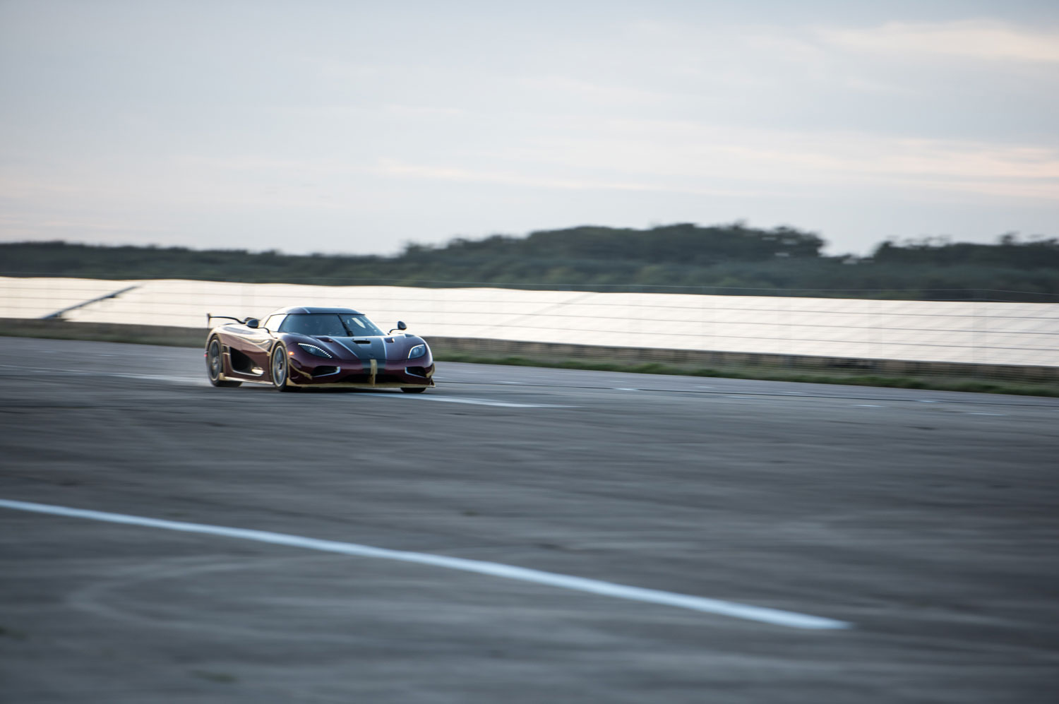 Koenigsegg Agera RS Front Three Quarters In Motion