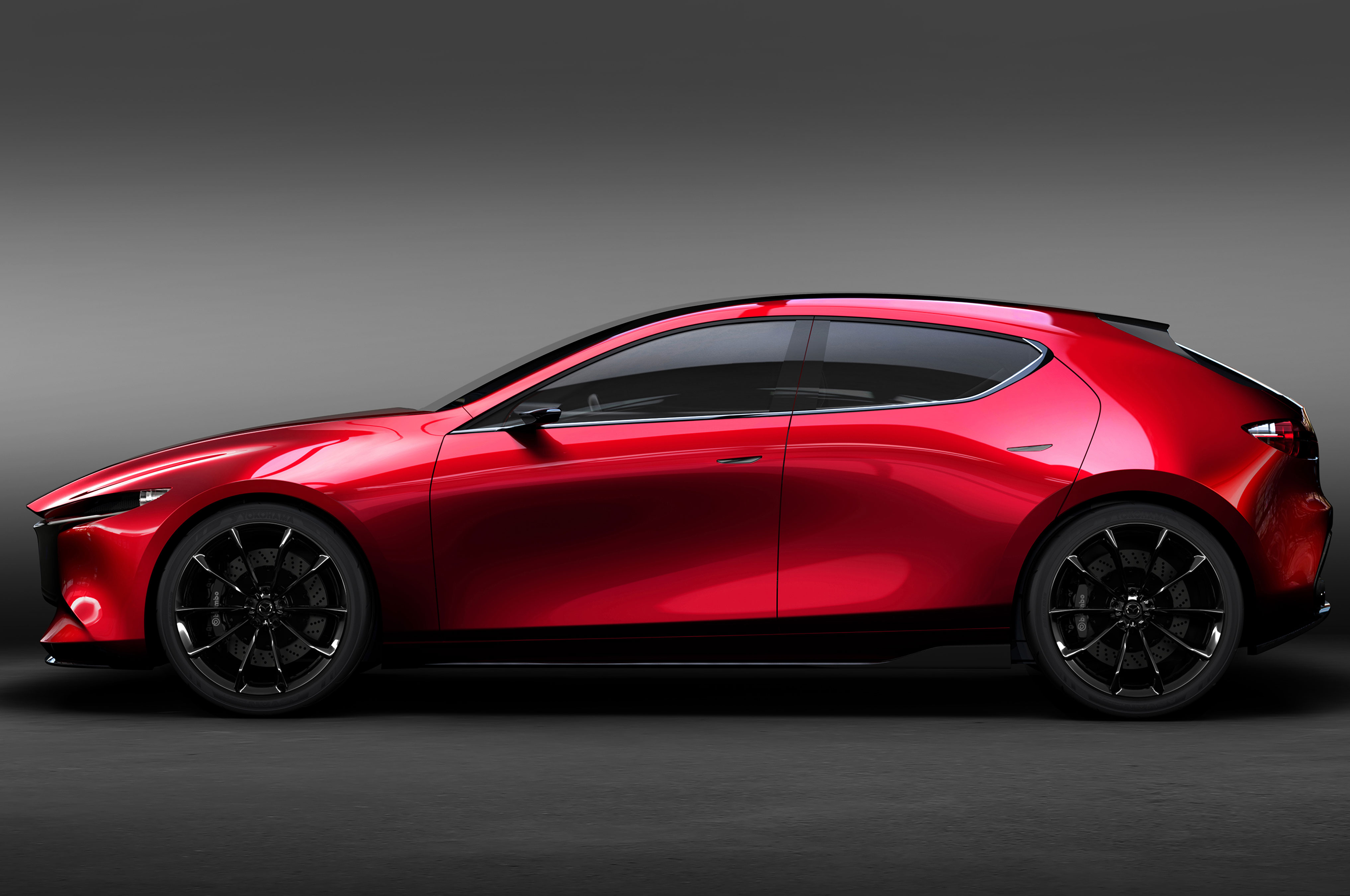Mazda Kai Concept Side Gray Background