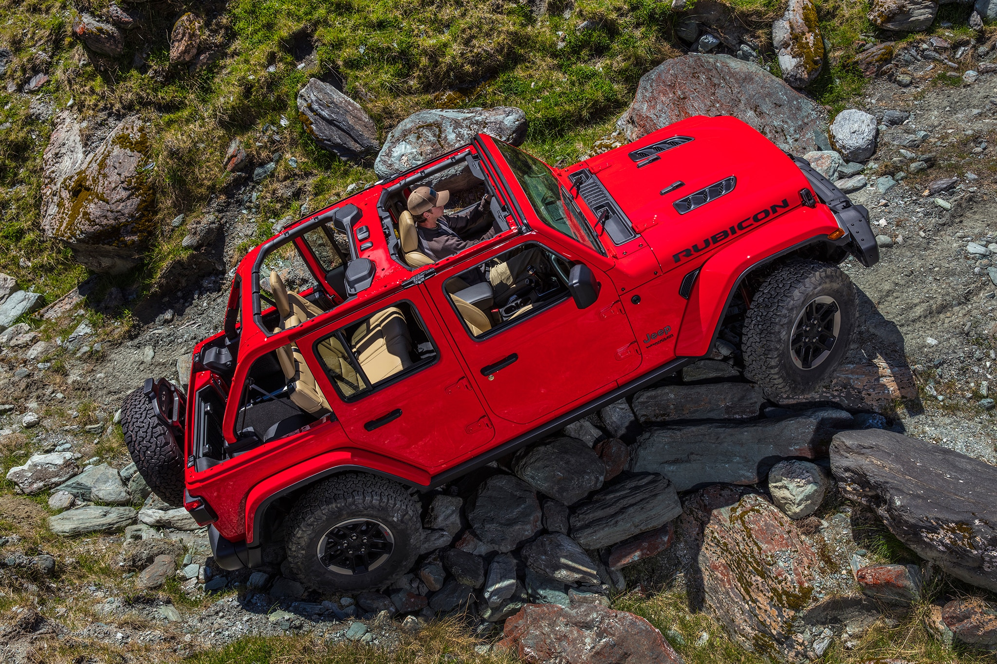 2018 Jeep Wrangler Unlimited Rubicon Side Profile 01