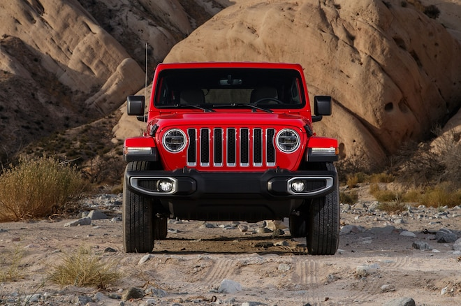 2018 Jeep Wrangler Sahara Unlimited Front View